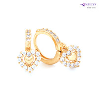 Meilyn Anting Jurai Gold Mata Baris Love Motif Emas 0271171115