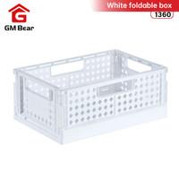 GM Bear Keranjang Penyimpanan Lipat Putih 1360 - White Foldable Box
