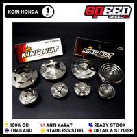 Koin Magnet Blok Honda Supra Megapro Tiger GL CB Sonic King Nut Silver