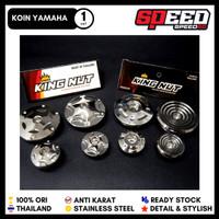 Koin Magnet Blok Yamaha Mio Nouvo Vixion Jupiter King Nut Silver