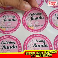 Sticker Cutting Label Makanan Murah per Lembar A4