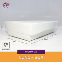 Lunch box Paper - Kotak makanan kertas - White Size M