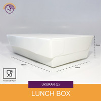 Lunch box Paper - Kotak makanan kertas - White Size L