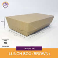 Lunch box Paper - Kotak makanan kertas - Kraft Size M