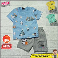 Setelan stelan baju kaos anak laki laki cowok bayi murah lucu 1- 6 thn