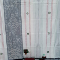 sarung bhs excellent motif warna putih