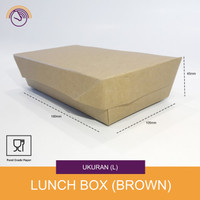 Lunch box Paper - Kotak makanan kertas - Kraft Size L