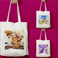 Totebag Tote Bag BTS BT21 Tiny Tan Lucu Kanvas Import Kpop Korea