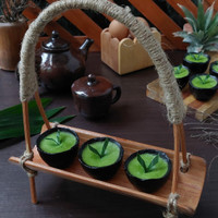 Photo Props Keranjang Kue Bambu