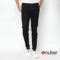 Celana Panjang Slim Fit Stretch Soft Jeans Pria Hitam - Amethyst