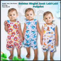Baju Pakaian Stelan Setelan Singlet Anak Bayi Laki laki Cowok Cowo