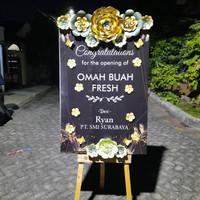 papan bunga kertas congratulations murah surabaya - ove florist