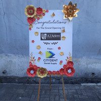 papan bunga kertas surabaya murah   paper flower board - ove florist