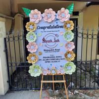 papan bunga kertas congratulations surabaya murah - ove florist