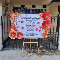 papan bunga kertas selamat & sukses surabaya - ove florist