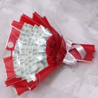 Bouquet uang asli ( uang baru dari bank ) / buket uang asli / hand bou