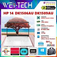 "HP 14s DK1506AU DK1509AU ATHLON GOLD 3150U 4GB 512GB SSD 14"" WIN10 OHS"