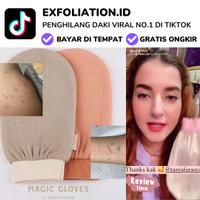 Magic Gloves Exfoliator Penghilang DAKI EXFOLIATION Gosok Scrub Spons