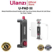 Ulanzi U-PAD III Metal Tablet Holder Tripod Mount with Cold Shoe