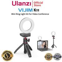Ulanzi Vijim K11 Mini LED Ring Light Kit for Video Confrence etc
