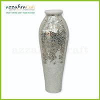 Vas Kaca mosaic h80 cm Vas Keramik Pot Bunga Keramik Vas Kaca Dekorasi