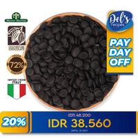 Ariba Couverture Dark Chocolate 72% Coin - Coklat Kovertur Koin 300gr