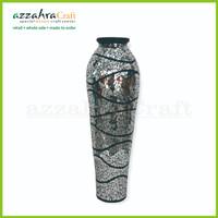 Vas Kaca mosaic h100 cm Vas Keramik Pot Bunga Keramik Vas Shabby Chic