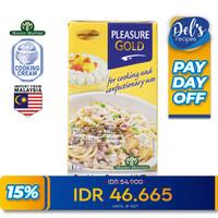 Krim Masak dairy serbaguna - Cooking Cream UHT Pleasure Gold 1 L