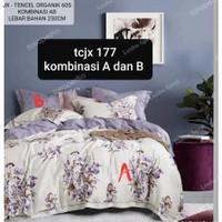 quilt cover dan Sprei set tencel organik 4sarung bantal - 160X200 T.40