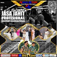 JASA JAHIT GARMENT/KAOS/KEMEJA/T SHIRT/GAMIS/CELANA/SERAGAM/JAKET