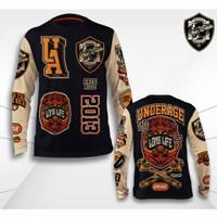 Kaos Baju Motor Underage T shirt Brotherhood Lengan Panjang KM 97
