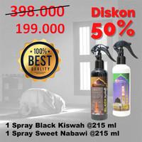 PROMO 1 SPRAY BLACK KISWAH & 1 SPRAY SWEET NABAWI