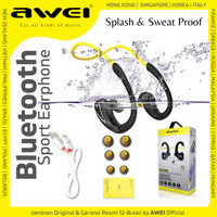 AWEI Super Bass Bluetooth Wireless Sport Earphone / Headset A880BL