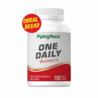 PipingRock One Daily Multivitamin & Mineral untuk Wanita 100 tablet