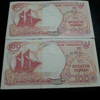 uang kuno 100 rupiah prahu layar 1991