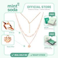 Mint Soda Korea - Kalung Emas 18K / 750 - Heart Signal Necklace