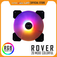 Fan Casing 12cm 3 Power Up ROVER Colorful RGB Auto Light LED