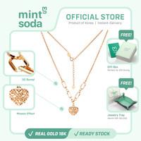 Mint Soda Korea - Kalung Emas 18K / 750 - Guardian of Love Necklace