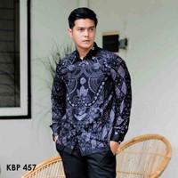 Batik Pria Lengan Panjang Modern Baju Kondangan Kemeja Katun terbaru