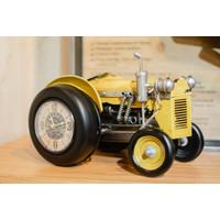 Jam Dinding / Clock Model Mobil Antik - Kuning