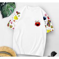 T-Shirt Elwhite XL / Baju Kaos Wanita XL Oversized Katun Combed 30s