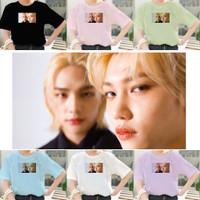 Kaos Hyunlix Straykids Stray Kids Hyunjin Felix Stay Oversize Wanita