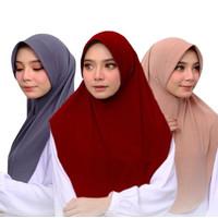 Kerudung Bergo Jersy Premium /Kerudung instan Jersy/Hijab Bergo/Jilbab
