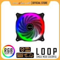 Fan Case 12cm RGB 3 Power Up LOOP Single Colorful