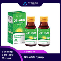 Bundle 2 D3-400 Sirup Suplemen Vitamin D3