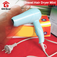 GM Bear Travel Hair Dryer Mini Green 1327-Vlasy Pengering Rambut Lipat