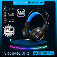 Headset Gaming Wired 3 Power Up ARGON 200 3.5mm RGB Breathing Light