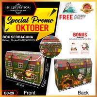 Kotak Natal|Gable Box|Box Hampers|Kotak Kado|Packaging Natal|B3-29