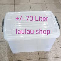 Box Container Real CB 70 Liter Roda Multiclub Bening Transparan Shinpo