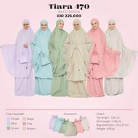 Mukena Jumbo Tatuis Tiara 470 Rayon Polos Pink Biru Hijau Cokelat Adem
